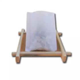 Un lot de 100 pièces de sachets de thé vide de couleur blanche, thermosoudable avec ou sans ficelle selon votre choix, biodégradable
